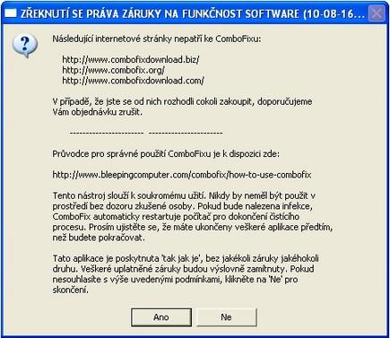 Licenční podmínky ComboFixu