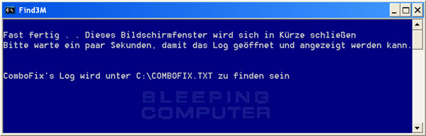 ComboFix ist fast fertig!