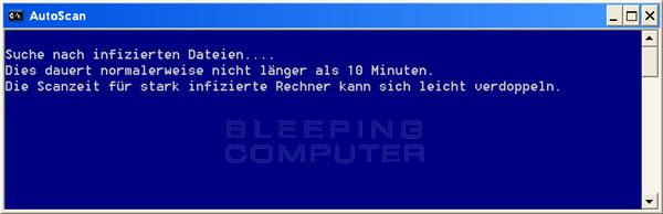 ComboFix durchsucht den PC nach Infizierungen