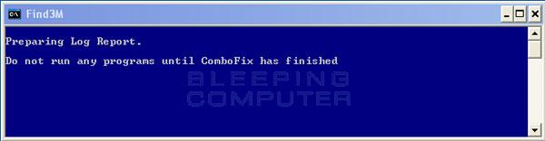 ComboFix is preparing the log report