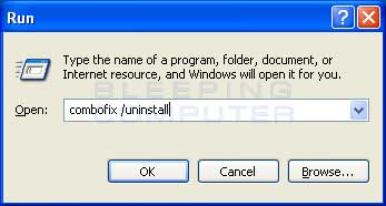 Ausführen Dialog Box in Windows XP