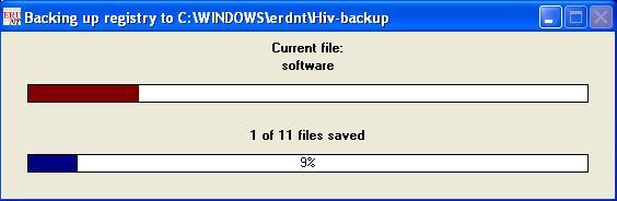 ComboFix varmuuskopioi Windowsin rekisteriä