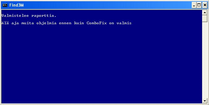 ComboFix valmistelee lokia