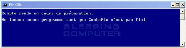 ComboFix prépare le rapport (log)