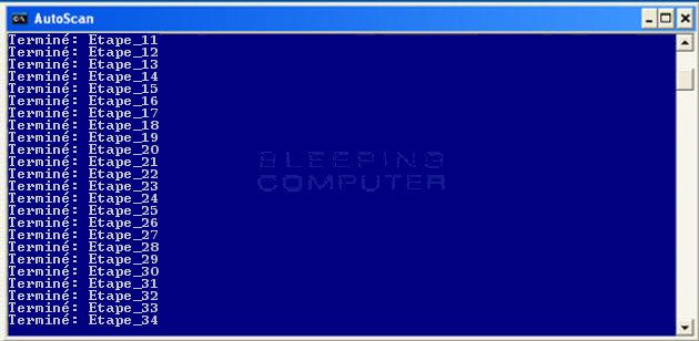 Etapes de l'examen automatique de ComboFix