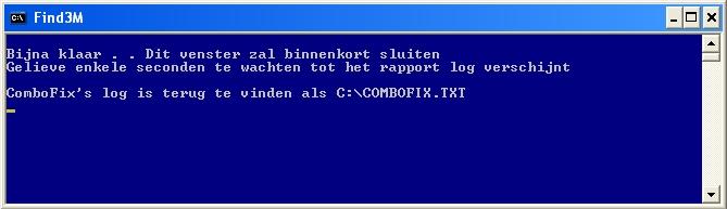 ComboFix is bijna klaar!