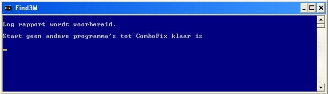 ComboFix bereidt het log report voor