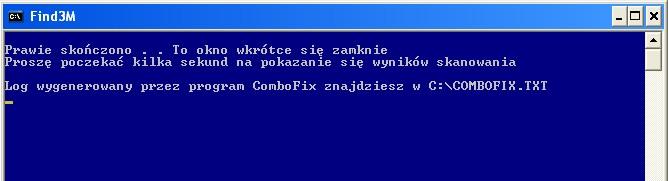ComboFix prawie ukończył swoje działanie!