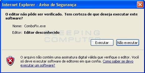 Aviso de Segurança para abertura de arquivo do Windows