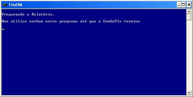 ComboFix está preparando o relatório