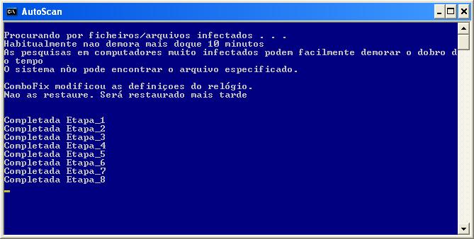 Estágios do AutoScan do ComboFix