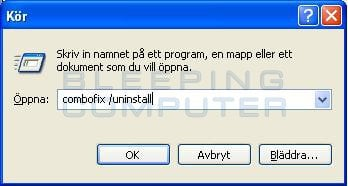 Dialogrutan Kör i Windows XP