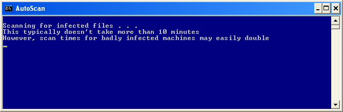 ComboFix is scanning the computer for infections