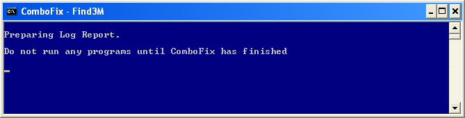 ComboFix is preparing the log report
