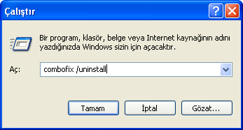 Run Dialog Box in Windows XP