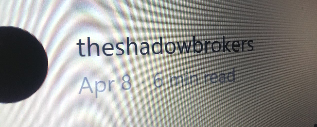 Shadow Brokers Publish the Password for the Rest the Stolen