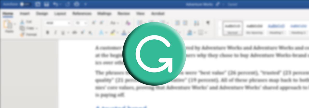 Grammarly For Microsoft Word Mac