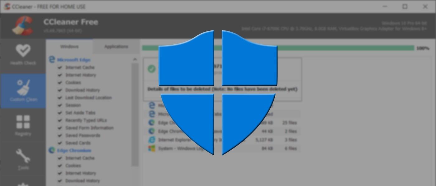 Windows Defender CCleaner