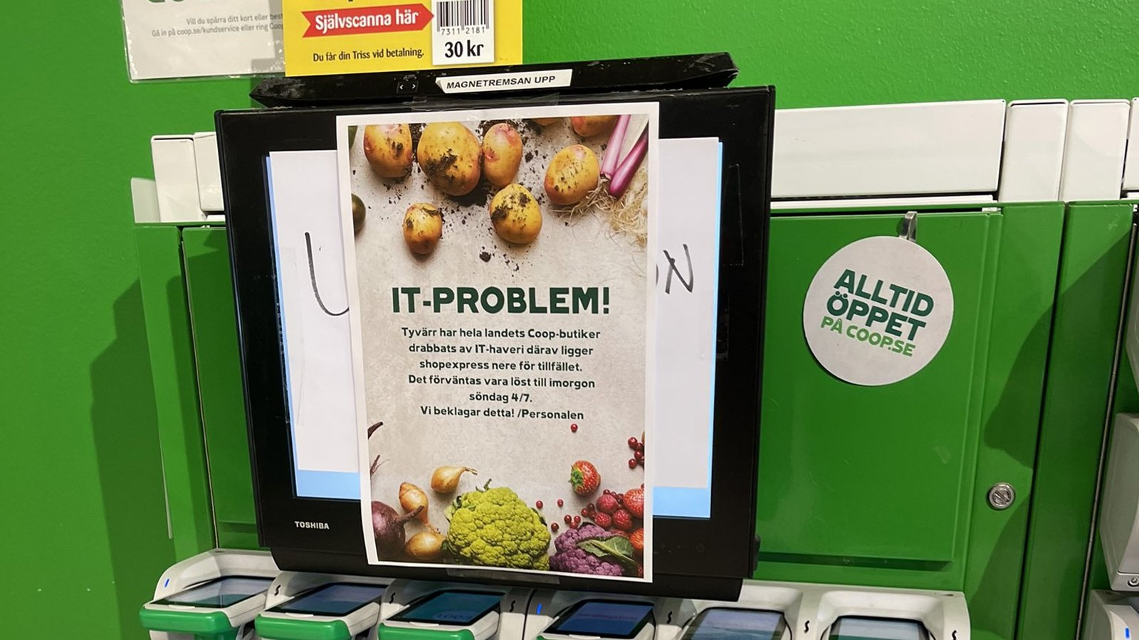 Coop supermarket closes 500 stores after Kaseya ransomware attack
