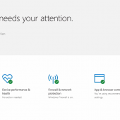 Microsoft Reveals Windows Defender Security Center Scheduled for Creators Update Image