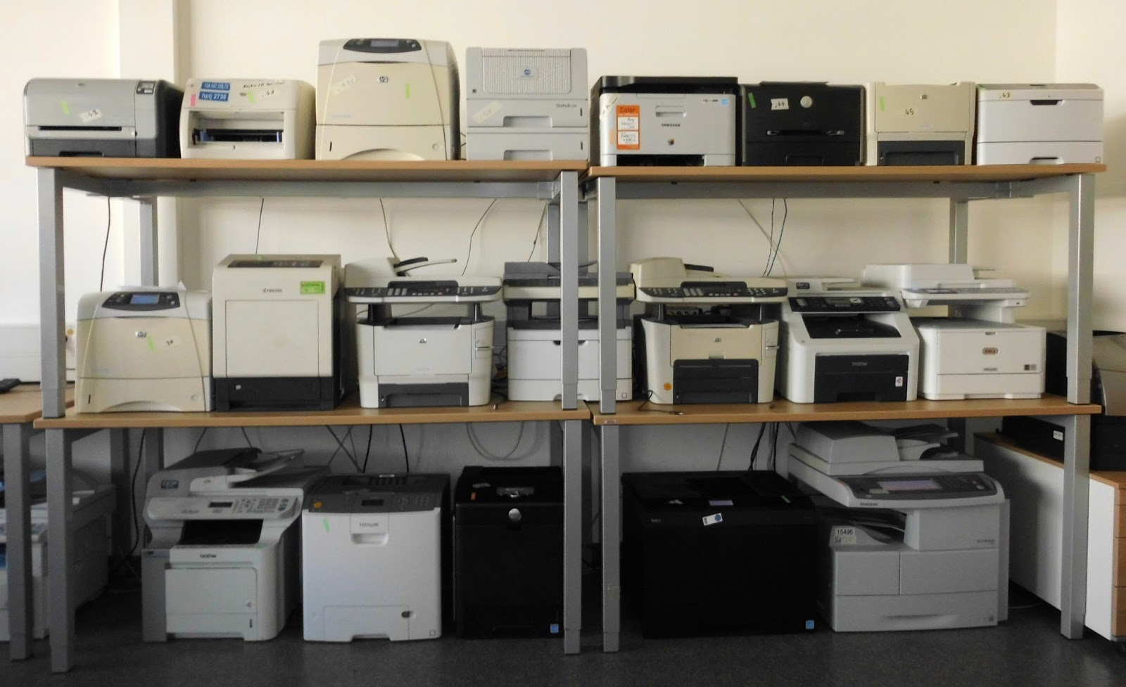 Printers tested by researchers