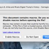 Macro Malware Hits Mac Users Image