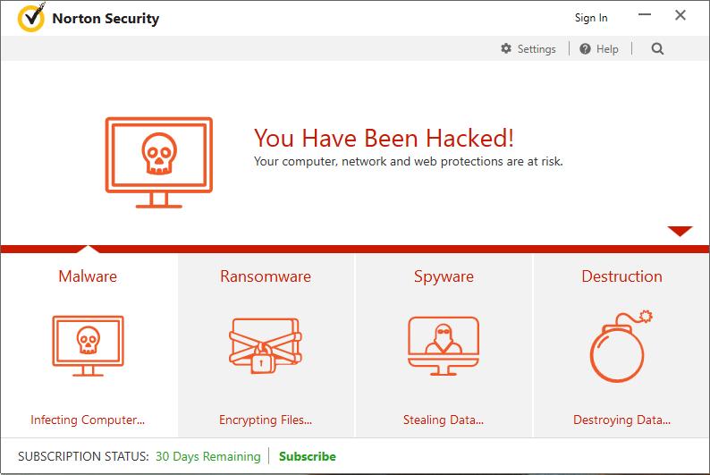 Norton antivirus UI modified via DoubleAgent attack