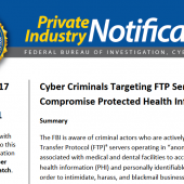 FBI Alert Urges Companies to Secure FTP Servers Image