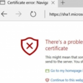 Microsoft Bans SHA-1 Certificates in Edge and Internet Explorer Image
