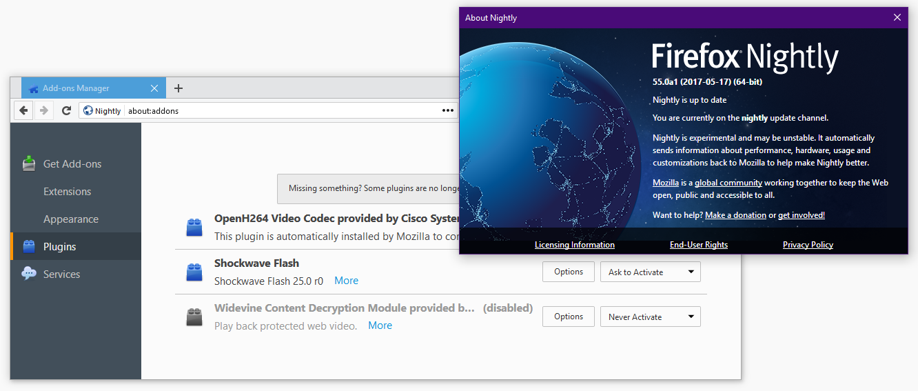 Firefox 55: Flash Will Become