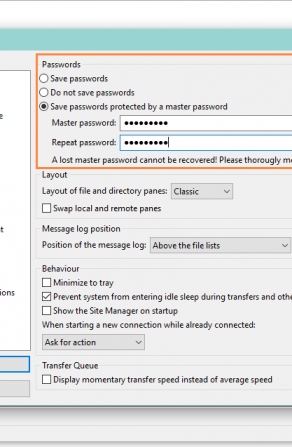 FileZilla FTP Client Adds Support for Master Password That Encrypts Your Logins Image