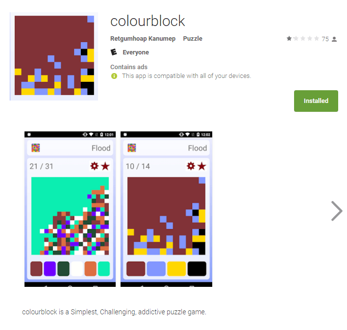 colourblock app on the Play Store