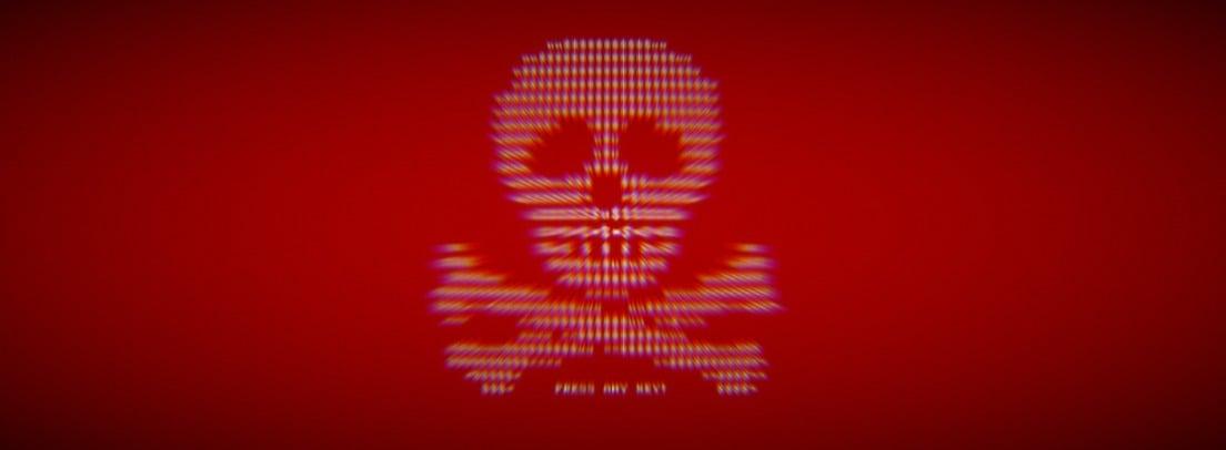 Petya ransomware skull