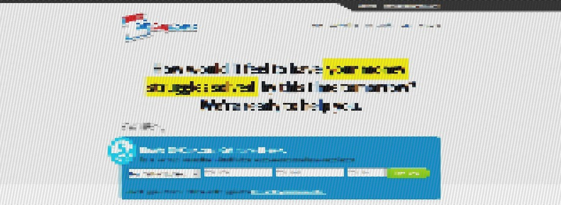 Scrambled image of one of Blue Global Media's sites