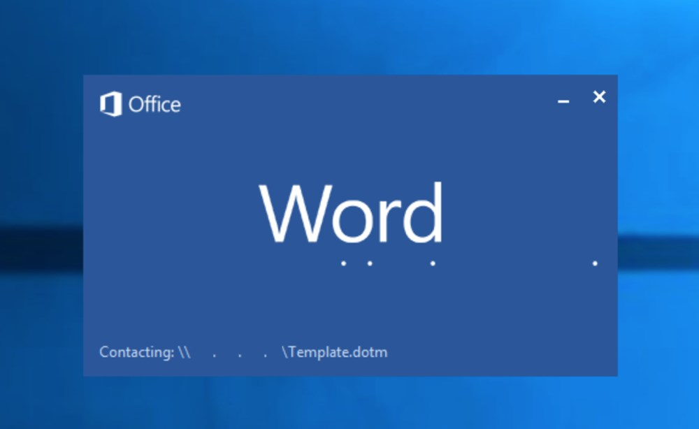 Message in loading screen of Microsoft Office Word