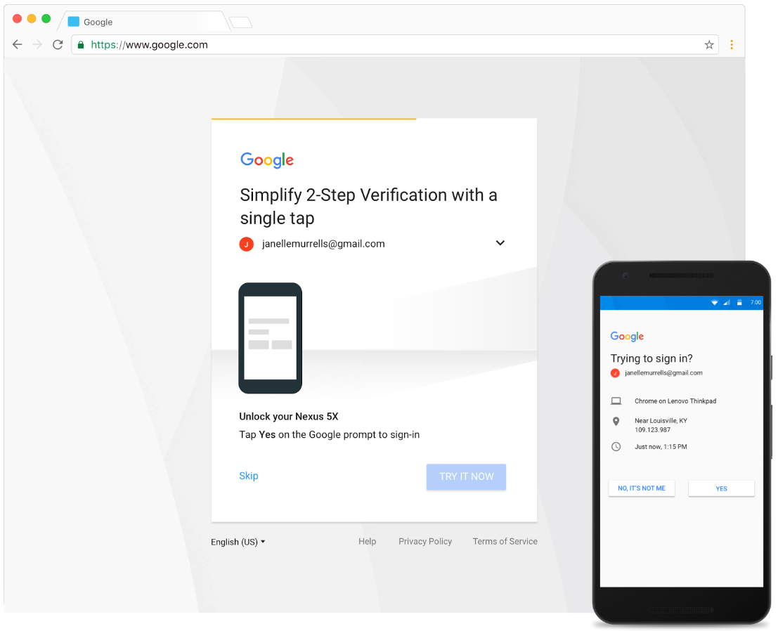 Google 2SV prompt