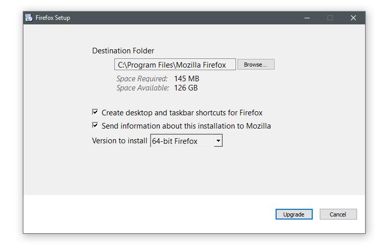 Firefox stub installer