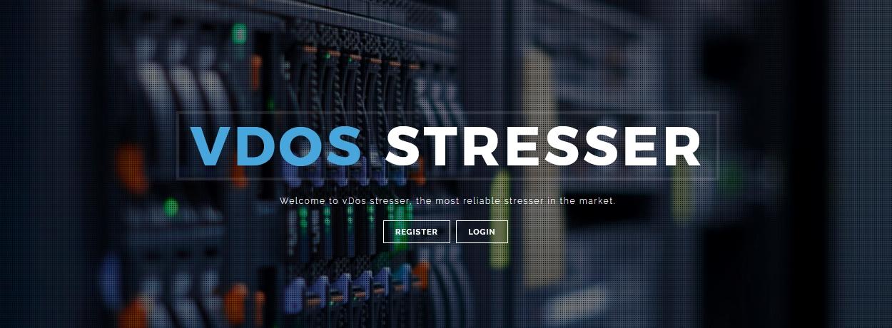 vDos homepage in 2015