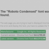 Fake Roboto Condensed Font Pack Update Infects Users with Malware Image