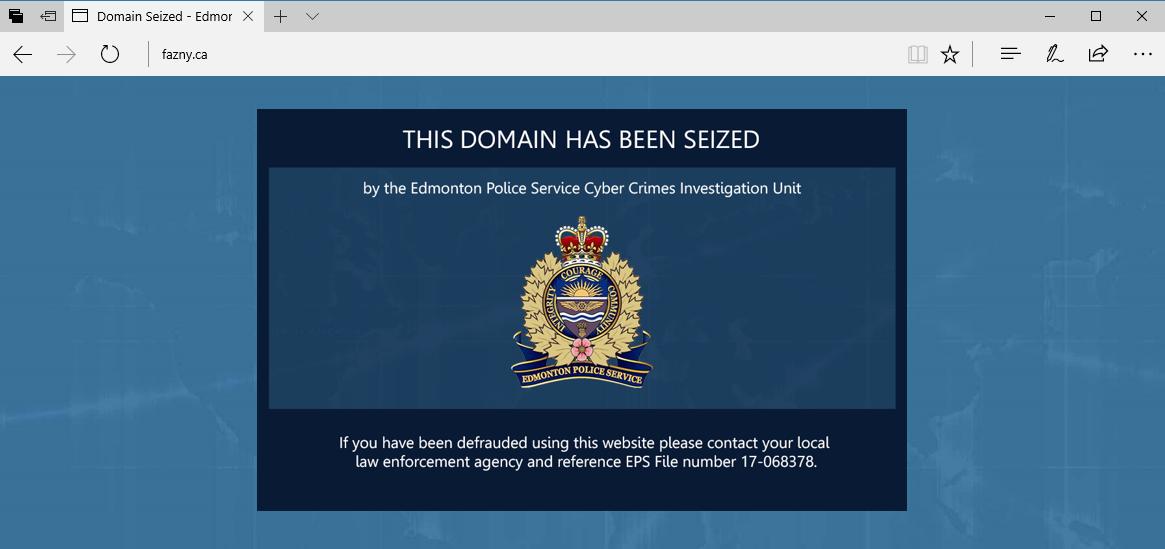 Fazny.ca seized domain