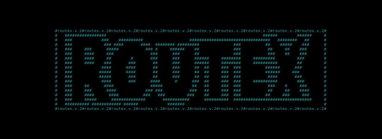 RouteX malware ASCII splash screen
