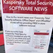 Office Depot, Best Buy Pull Kaspersky Products From Shelves Image