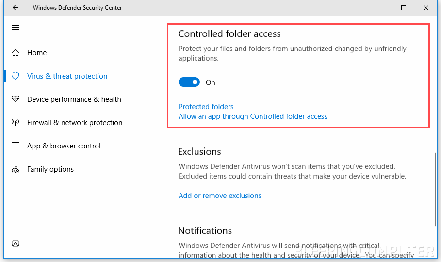 cant turn off windows defender