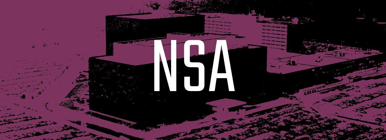 Stylized image of NSA HQ