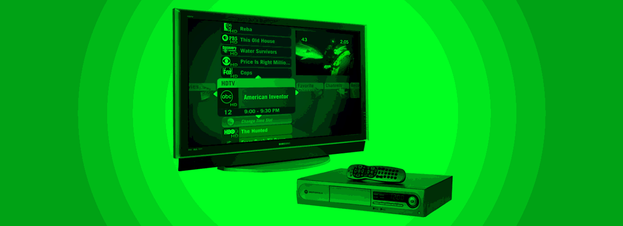 how to connect set top box to old tv