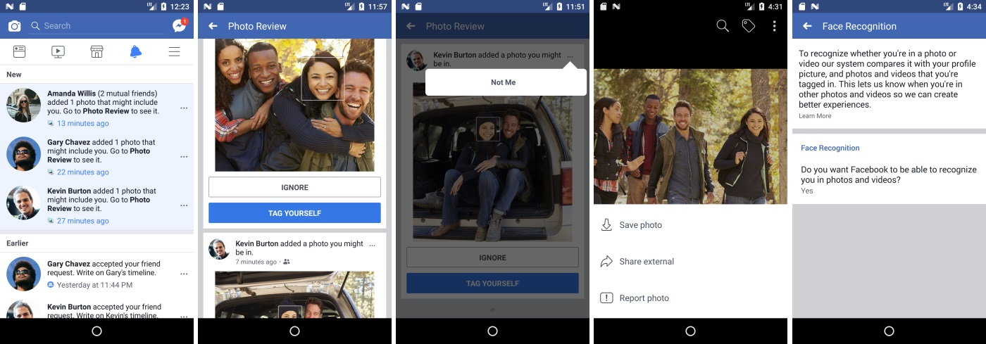 Facebook new photo tagging and alert feature