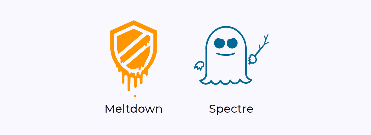 Logos for Meltdown and Spectre attacks