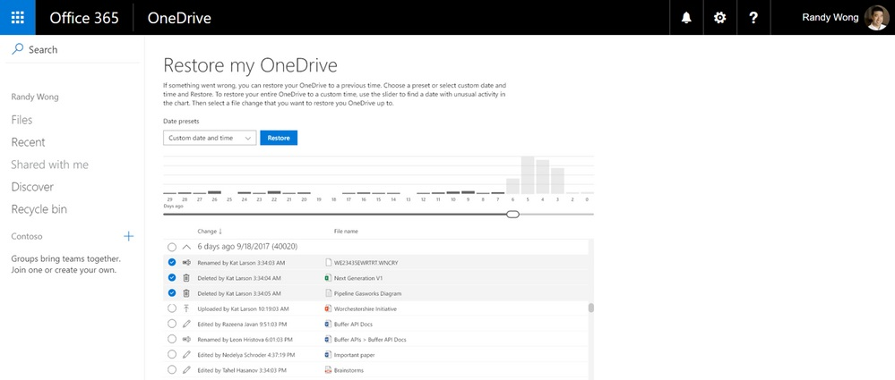 OneDrive for Business Files Restore