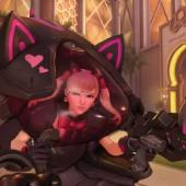 Tomorrow's OverWatch Cosmetic Update Teases Reveal of new BLACK CAT D.VA Skin Image
