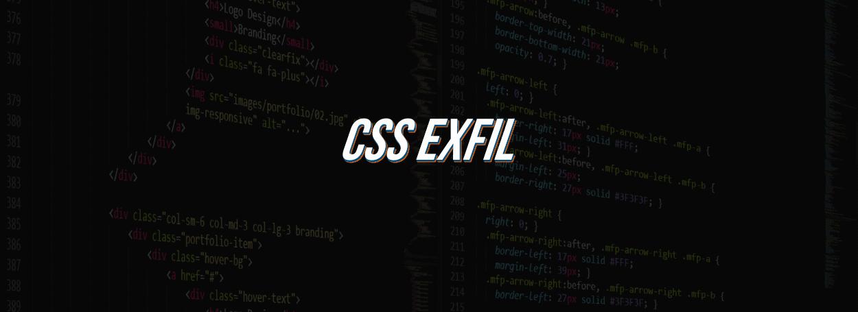 Css-exfil